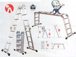 Лестницы в аренду, разные, цена договорная. Стремянка Телескопическая  лестница . Scara telescopica