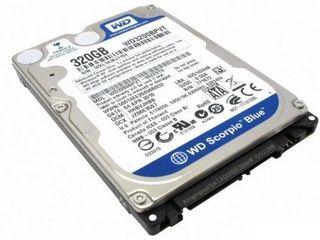 vind hdd Western Digital WD320BPVT, 2.5'', 320GB, 8MB, 5400RPM, SATA practic nou.100 procente viata.