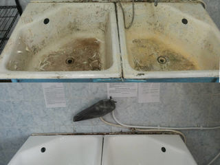 """Реставрация чугунных и металлических ванн """"Жидким акрилом""""Restaurarea cazilor de baie cu acril"""