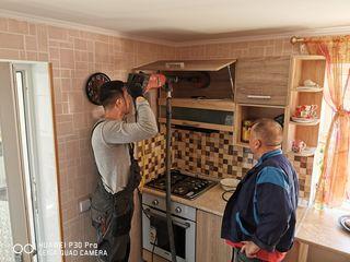 Отверстия для кухонных вытяжек. Găuri pentru hote de bucătărie.