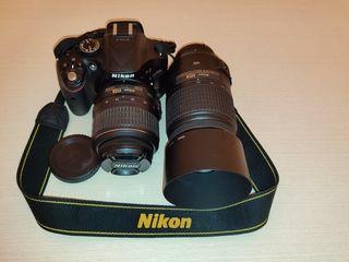 Nikon D5200 Kit + obiectiv Nikon DX 55-300