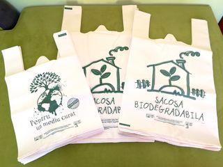 Sacoșe biodegradabile - mater-bi (compostabil 100%) certificate tuv austria