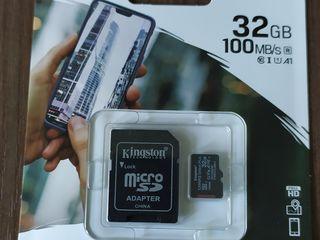 Micro SD 32 GB Class10 Kingston 600x, 100MB/s новая, запакованная, гарантия, доставка