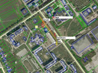 Продам-меняю участок в г. Унгены 3,5 сот. под строительство коммерческой +2,5 сот. для парковки
