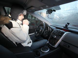 Холодно в машине