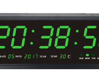 Led цифровые часы крупные 0,5mx0.2m настенные зеленые