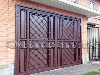Copertine, porți,  balustrade, garduri, gratii, uși metalice și alte confecții din fier .