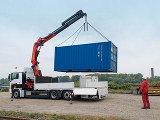 Transport materiale de constructii manipulator