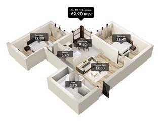 -10%! Apartament în casă nouă cu 2 și 3 odăi în centrul Chișinăului! Preț special!