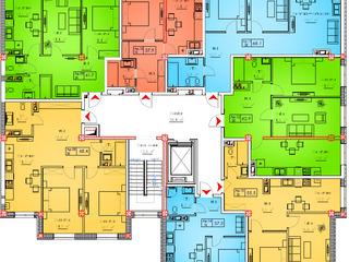 Apartament cu 1 odaie/ 38 mp/ 470 €/mp