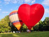 Полет на воздушном шаре сердце
