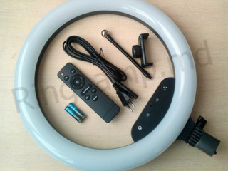 Кольцевая led лампа с cенсорная управления +пульт на 36 cm + подарок