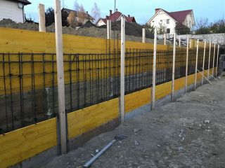 construim case, garduri de sprijin, fundații