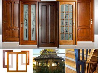 Двери и окна. Натуральное дерево. Входные металлические. Межкомнатные МДФ, ДВП, HDF. Лестницы. Бесед