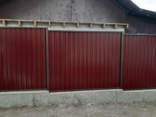 Заборы из профнастила,фундамент для забора, Молдова , Кишинев .