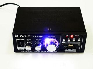 Усилитель звука. 12V (авто) + 220V (розетка). Новый. 490 лей. Бесплатная доставка!