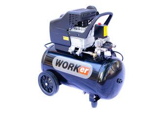 Compresor- worker 50 l, 1500 w 3 cp, 206 litrimin cu 2 iesiri garantie 2 ani