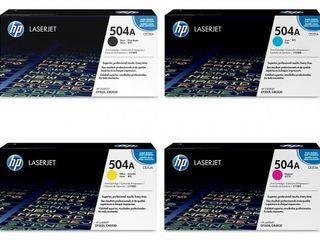 Cartuse laser HP originale CE250A, CE251A, CE252A, CE253A