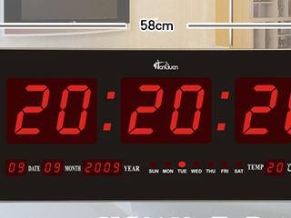 LED цифровые часы крупные 0,58mX0.21m настенные
