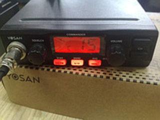 Радиостанция для дальнобойщиков  Yosan коммандер. антенна