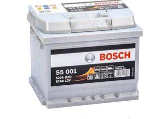 Аккумулятор 12V 52AH 520A Bosch S5 Silver Plus 0092S50010,garantie,livrare,1610 lei