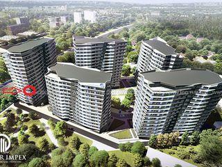 Privire spre parc - Rascani (Circ), apartament cu 2 odai, 70 m2, etajul 5, Lagmar