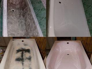 Реставрация ванн жидким акрилом restaurarea cazilor de baie cu acril aкция..