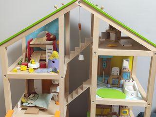 Casa de papusi si bucatarie din lemn Hape