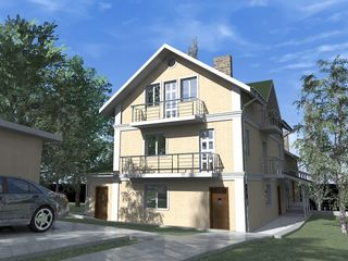 Se vind 2 case pe un teren de 7.7 ari in centru Chisinaului,teren divizat,intrari separate.Negociabi