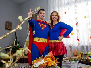 Program de animație pentru copii! Superman și super woman!