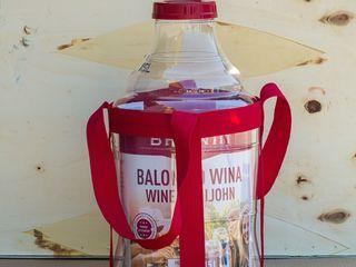 Винная пластиковая бутылка с крышкой и ручками на 15л.