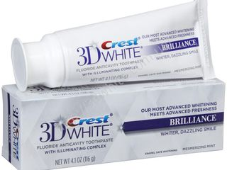Отбеливающая зубная паста crest 3d white - brilliance, glamorous white.