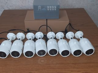 8 camere video complect ultramodern + videoregistrator + memoria HDD + cablu 100 metri. Complectul e