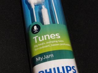 Оригинальные вакуумные наушники Philips. Универсальные / 3.5mm / 1.2m / Белые. С микрофоном.