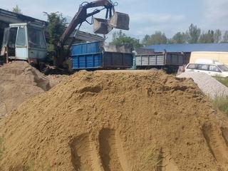 Бельцы.В мешках и россыпью песок,щебень,гравий,чернозем,глина.Доставка.