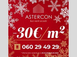 Astercon Grup-sect.Buiucani, apartament cu 1 odaie, 34.30 m2, 770 €/m2