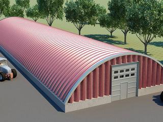 Бескаркасный арочный ангар ! самый дешевый, быстрый и надежный вид строительства в мире !  angar. md