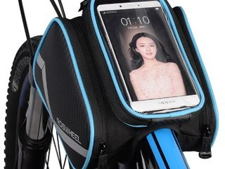 """Водонепроницаемая нейлоновая сумка на раму для мелочей: очки, смартфон 6,2"""", поуэрбанк, ключи и т.п."""