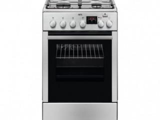 Плита aeg ckb56400bx  комбинированная/ газовые/ черный серебристый