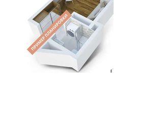 1-но комнатная квартира-студия с ремонтом (без мебели), 17 м.кв., партер. Ботаника