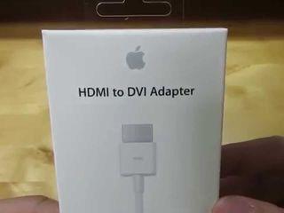 Apple Adapter(переходник), HDMI – DVI, Model mjvu27ma новый в упаковке 25euro