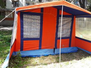 Палатка кенпенг на 4 мест  с тамбурам   в отличном состоянии бризент Испания 4   3