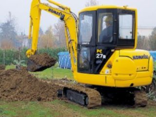 Mini excavator + Bobcat+ basculanta