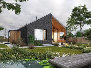 Новый дом в современном стиле от строительной компании
