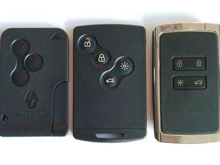 Ключи Renault, Dacia. Ремонт, замена корпуса, кнопки, программирование.