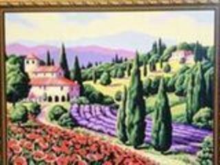 Картина по номерам 40x50 см.Пейзаж. Прованс.Pictura cu numere de 40x50 cm. Peisaj. Provence
