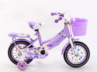 Bicicleta cu scaun moale si port bagaj in spate