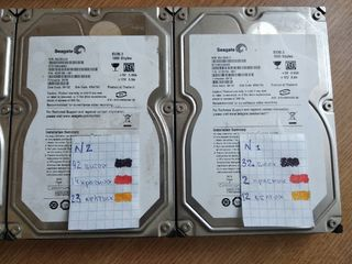 HDD 3.5(PC) 1TB Seagate б/у 4шт.