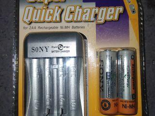 Зарядное устройство Sony Super Quick Charger + 2AA (2300mAh)