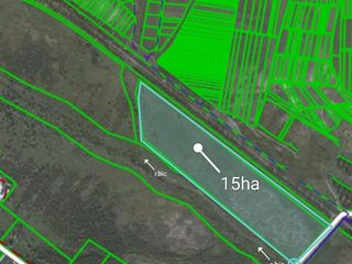 Se vinde teren 15ha sub orice constructie cu cale ferata,toate comunicatiile,drum asfaltat,zona libe
